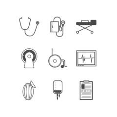 Black icons for resuscitation