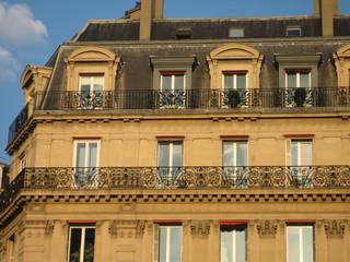 Immeuble haussmannien dans le centre de Paris