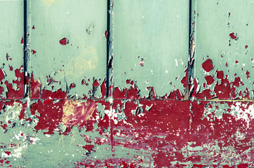 colourful paint peeling