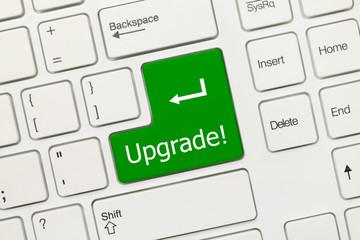 White conceptual keyboard - Upgrade (green key)