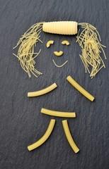 Bonhomme en forme de pâtes