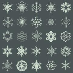 Snowflakes set of 25
