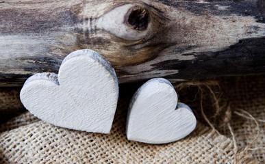 mariage de deux coeurs blanc