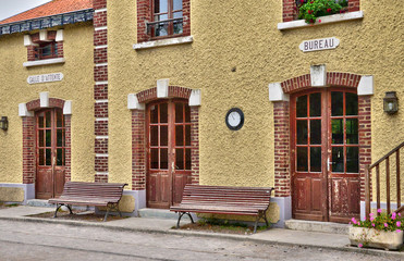 picturesque city of Le Crotoy in Somme