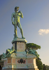 Bronze statue of David at Piazzale Michelangelo in Florence