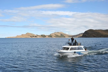 Mountain lake Titicaca