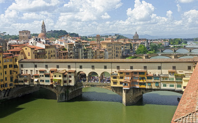 VIew of beautiful bridge Ponte Vecchio - Florence