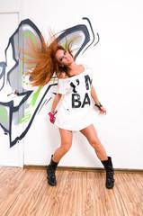 Cool hip-hop dancer