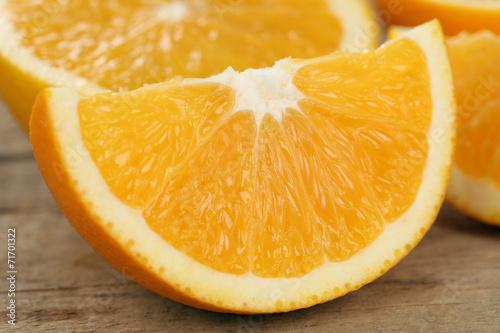 canvas print picture Geschnittene Orangen Früchte