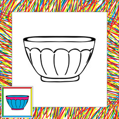Vase for sweets coloring book