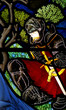 A knight in stained glass - 71702359