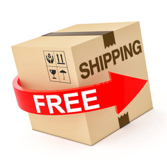 Cardboard Free Shipping 3d isolated on white
