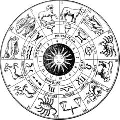 Vintage illustration Zodiac astronomy