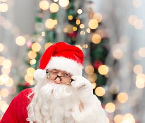 close up of santa claus winking