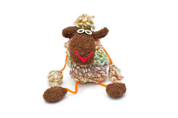Toy sheep - a symbol of New Year 2015