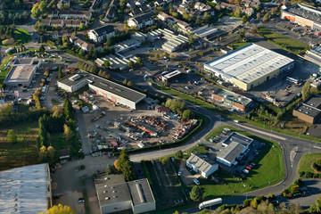 Dourdan zone industrielle vue du ciel