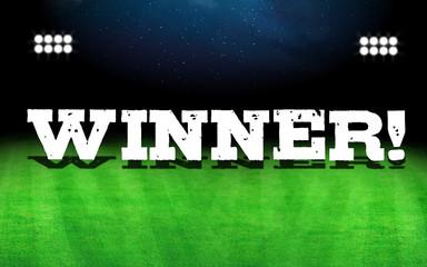 Winner word and stadium