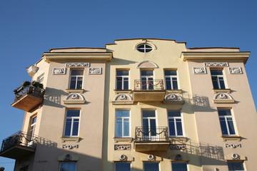 Building in the Old Town in Vilnius