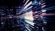 Leinwandbild Motiv Digital Data Chaos 0399