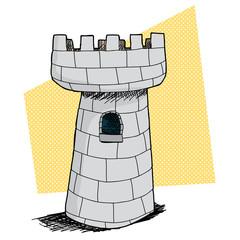Single Castle with Window