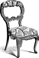 Vintage image old-fashioned chair