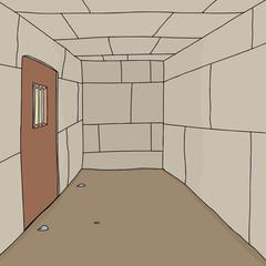 Empty Prison Cell