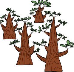 Set of Triangular Trees