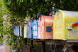 Colorful Vintage Mailboxes - 71704798