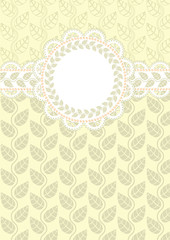lace frame on a light background with floral ornaments