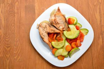 Рыба с запеченными овощами