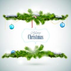 Merry Christmas Shiny Greeting Card.
