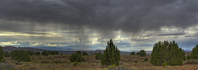 Rain Storm Over Utah Landscape