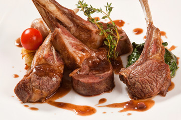 Steak of lamb