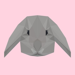 Polygonal rabbit background