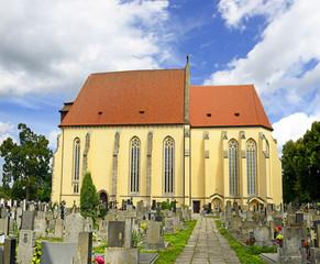 Historic romanic church of Sv. Jilji in Milevsko, Czech republic
