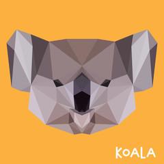 Polygonal koala background