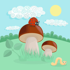 Vector illustration of mushroom