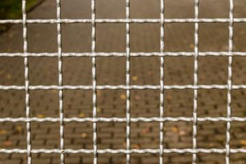 Zaun aus Gitterstäben