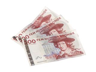 3 x 500 svenska kronor