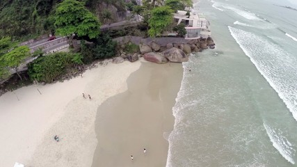 Aerial View of a Beach in Brazil