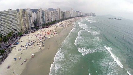Aerial view from a summer day at Beach in Rio de Janeiro