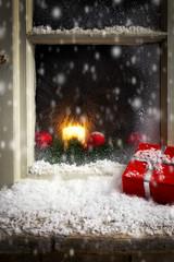 christmas decoration on a window 3