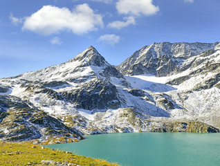 Weisssee - White Lake and mountain Tauernkogel, Hohe Tauern