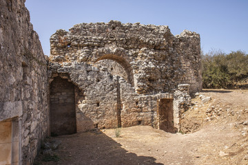 Exterior of public baths at Aptera, Crete