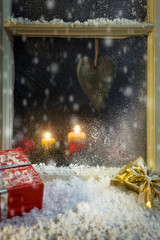 christmas decoration on a window 5