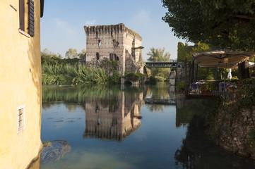View of Borghetto, Valeggio sul Mincio, Verona, Italy.