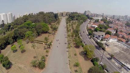 Aerial View from Ipiranga Museum in Sao Paulo, Brazil,