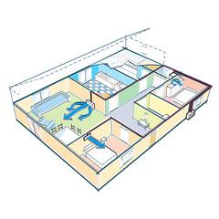 Petite maison climatisée