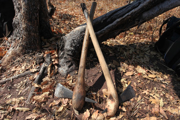 Traditional typical axes rural people
