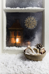 christmas decoration on a window 8